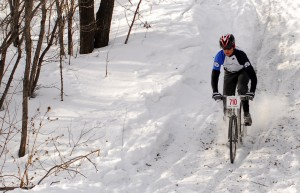 Rupy tears up the slopes in the hunt for Icebike gold (Peter Braul photo).